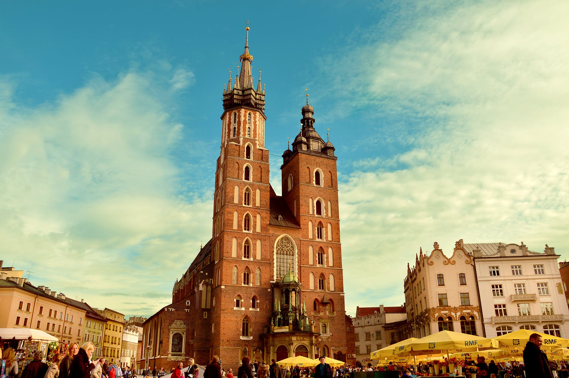 church poland square cracow